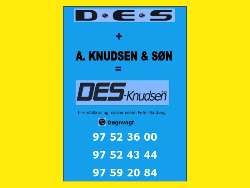 D.E.S + A. Knudsen & søn